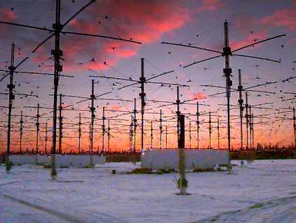 Antenas del proyecto HAARP en Gakona, Alaska.