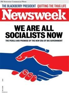 Portada de Newsweek, Ahora todos somos socialistas.