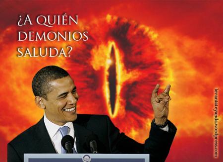 Obama, saludo Illuminati