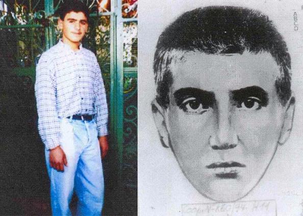 Un folleto sin fecha combinación foto difundida en Buenos Aires el 9 de noviembre 2005 muestra Ibrahim Hussein Berro, que ha sido identificado por el fiscal argentino Alberto Nisman como militante Hezbolá y el atacante suicida responsable del atentado con coche - bomba de 1994, sobre el centro comunitario judío AMIA (Oficina de Reuters / Fiscalía argentina )